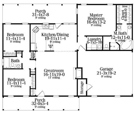 2 Bedroom Open Floor Plans by 3bedroom 2 Bath Open Floor Plan 1500 Square
