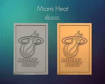 Miami Heat Relief Logos Signs Models Cgtrader