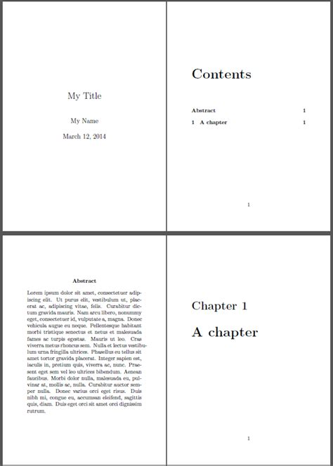 Title Page Abstract Template by How Can I Add Abstract To Table Of Contents Tex Latex