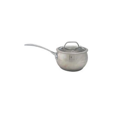 david burke gourmet pro splendor qt chef sauce pan pot  lid stainless steel  david burke