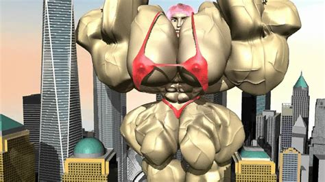 Female Muscle Growth Animation