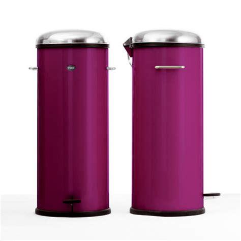 poubelle de cuisine 30 litres poubelle à pédale 30 litres purple vipp photo de les