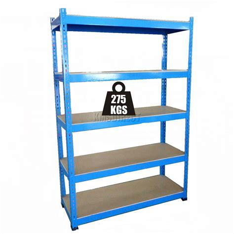 garage shelving unit 5 tier boltless steel blue heavy duty garage storage