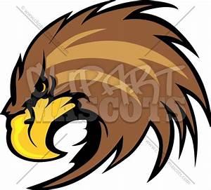 Hawk Mascot Head Graphic Vector Logo