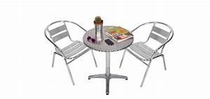 Salon De Jardin Bistrot : table et chaise bistrot aluminium ~ Teatrodelosmanantiales.com Idées de Décoration