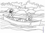 Coloring Canoe Canot Canoeing Imprimer Pdf Kinderart Transports Coloriage Colorier Dessins sketch template