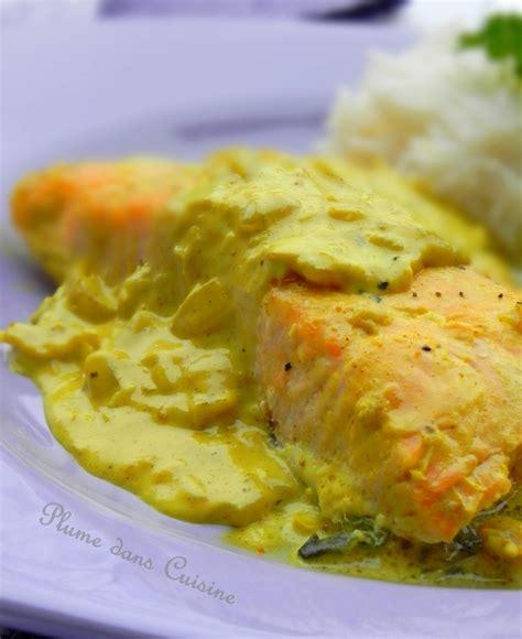 lait de coco cuisine saumon au lait de coco et au curry une plume dans la cuisine