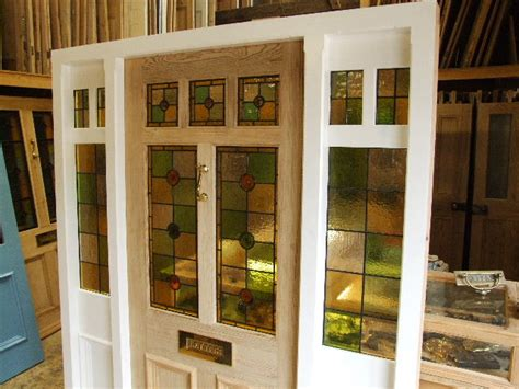 Stained Glass Front Door With Frame And Sidelights Interior Design Bedroom Paint Colors Black Textured Render Texture Southwestern Crown Exterior How To A Wall With Make Painting On House Color