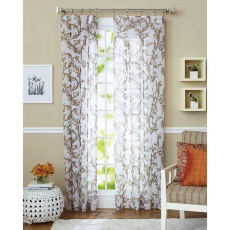 better homes and gardens curtains better homes and gardens sydney curtain panel walmart