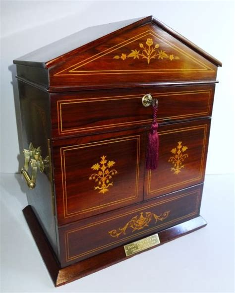 Cigar Cabinet Humidor Uk by Magnificent Antique Inlaid Rosewood Cigar Cabinet