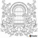 Gate Coloring Garden Pages Drawing Adults Gates Adult Drawings Books Line Getdrawings Paintingvalley sketch template