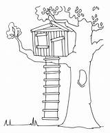 Treehouse Coloring Printable sketch template