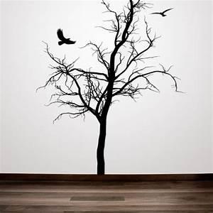 Winter Tree, Season, Birds, Animal, Decal, Vinyl, Sticker