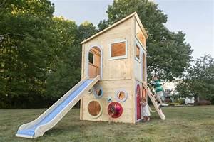 Spielhaus Garten Mit Rutsche : spielhaus im garten modernes kinderspielhaus aus holz ~ Watch28wear.com Haus und Dekorationen