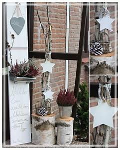 Fensterbank Außen Dekorieren : dekoration f r den hauseingang erika und sterne herbst deko weihnachtsdeko hauseingang ~ Eleganceandgraceweddings.com Haus und Dekorationen