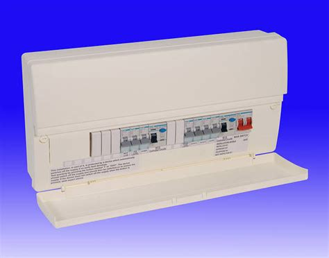 14 way insulated dual 63a rcd consumer unit