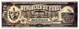 Vintage Cuban Cigar Warramty Label Art Print by CarlsonBrands