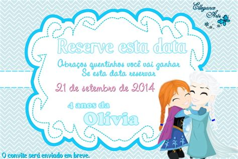 Save The Date Digital Frozen No Elo7