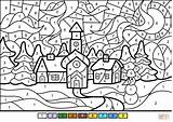 Coloring Winter Number Printable Town Worksheets Numbers Adults Nature Animals Crafts Printables Sheets Bible Supercoloring Colors Simple Cartoons Select Peters sketch template