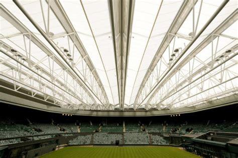 wimbledon set  debut innovative retractable roof inhabitat sustainable design innovation