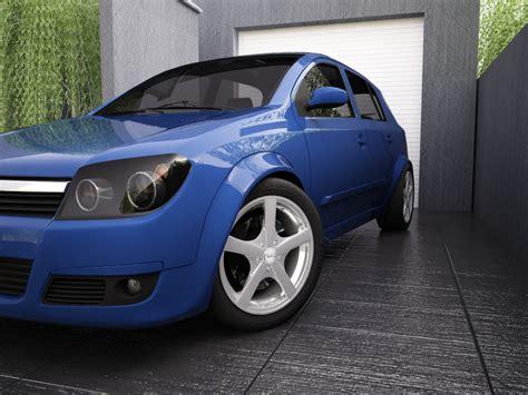 Opel Automobile Models by Opel Astra H 3d Model Flatpyramid