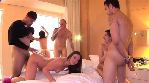 Three Girls Are Having Group Sex With Three Guys In The