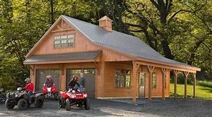 Create Space With A Weaver Barns Custom Garage - Weaver