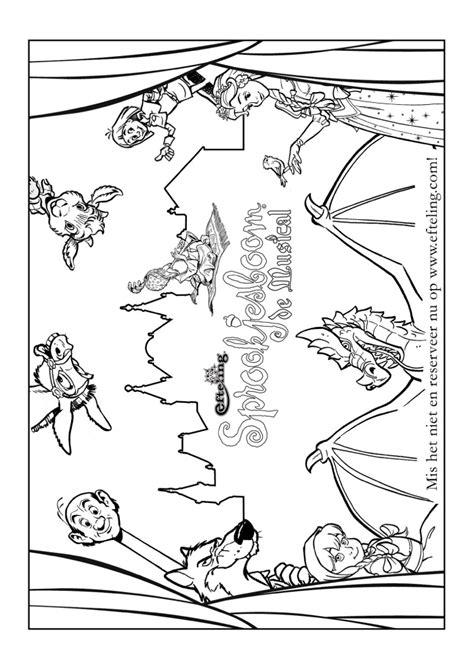 Kleurplaat Ezel Efteling by Roodkapje Efteling Kleurplaat Leuk Voor Roodkapje