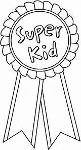 Ribbon Coloring Pages Clipart Week Award Trophy Esl Success Languages Medals Superkid Games Sprinters Gym Think Drawing Template Printable Ribbons sketch template
