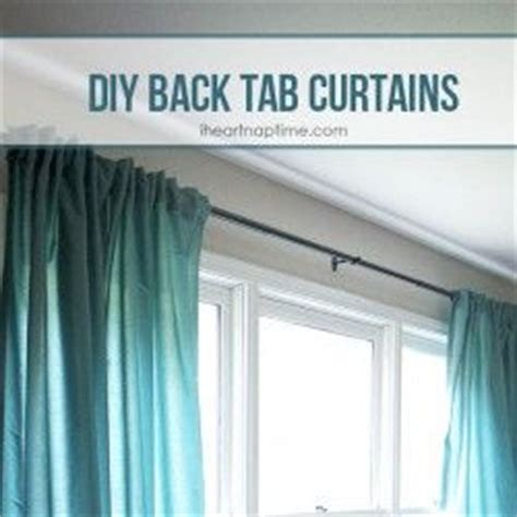 diy back tab curtains sewing curtains tab curtains and