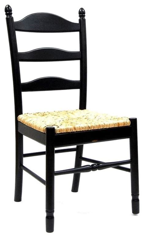 Ladder Back Dining Chairs With Rush Seats by Ladder Back Dining Chair W Rush Seat Traditional