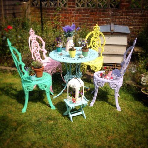 shabby chic garden chairs garden furniture painting workshop