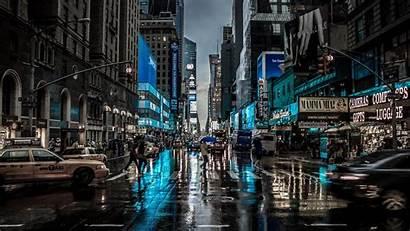 4k York Dark Street Blur Reflection Motion