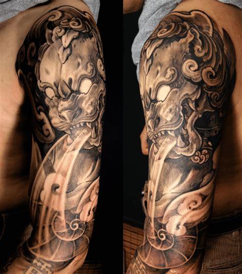 sleeve foo dog tattoo chronic ink