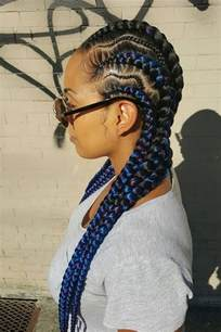 Feed in Cornrow Braids Hairstyles