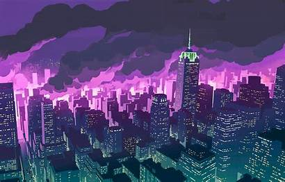 Anime Night Promare Wallpapers Purple Backgrounds Background
