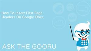 how to insert first page headers on google docs youtube With google docs first page header