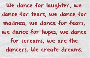 DANCE QUOTES - Dancers Friends Forever