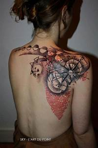 Tatouage 3 Points : tatouage dotwork avec rose des vents inkage ~ Melissatoandfro.com Idées de Décoration
