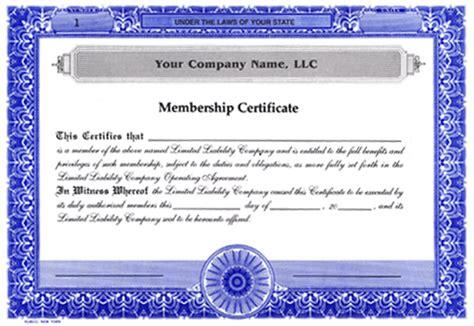 llc membership certificate template custom printed certificates limited liability company limited liability company membership