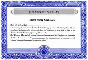 Custom printed certificates limited liability company limited liability company membership for Llc certificate of ownership