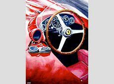 Automotive Artist Brings Ferrari and DeLorean Paintings to