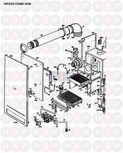 Halstead Wickes Combi 30  90  Boiler Assembly 1  Diagram