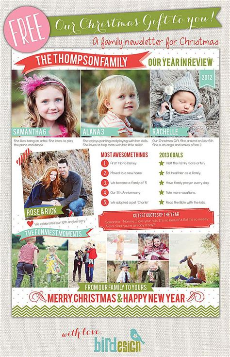 holiday newsletter 7 free letter templates that you ll