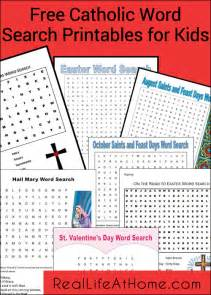 Printable Catholic Word Searches for Kids