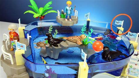squishy mobil playmobil family aquarium with sea animals playset