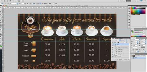Coffee Shop Version 2 Menu Board Psd Template Eclipse