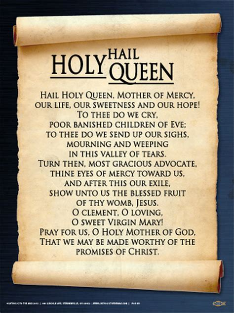 hail holy queen poster mycatholicgifts