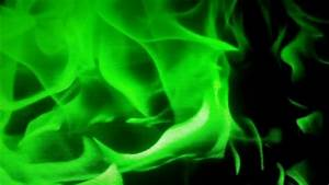 Green Fire Background - YouTube