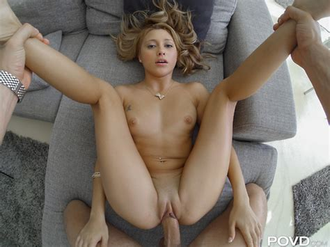 sexy blonde getting missionary fucked legs in air